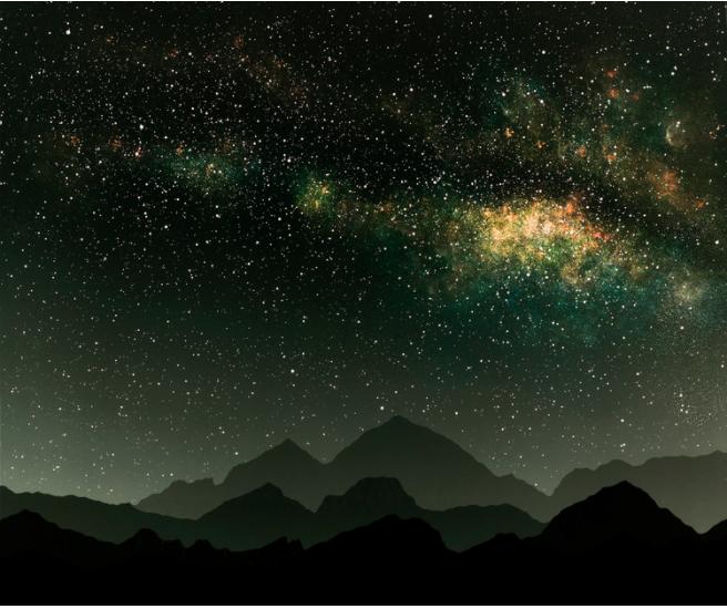 ©Vanessa Marsh, Falling  exhibition,  Mountains 12, 20x24 / Chromogenic Photogram / 2015