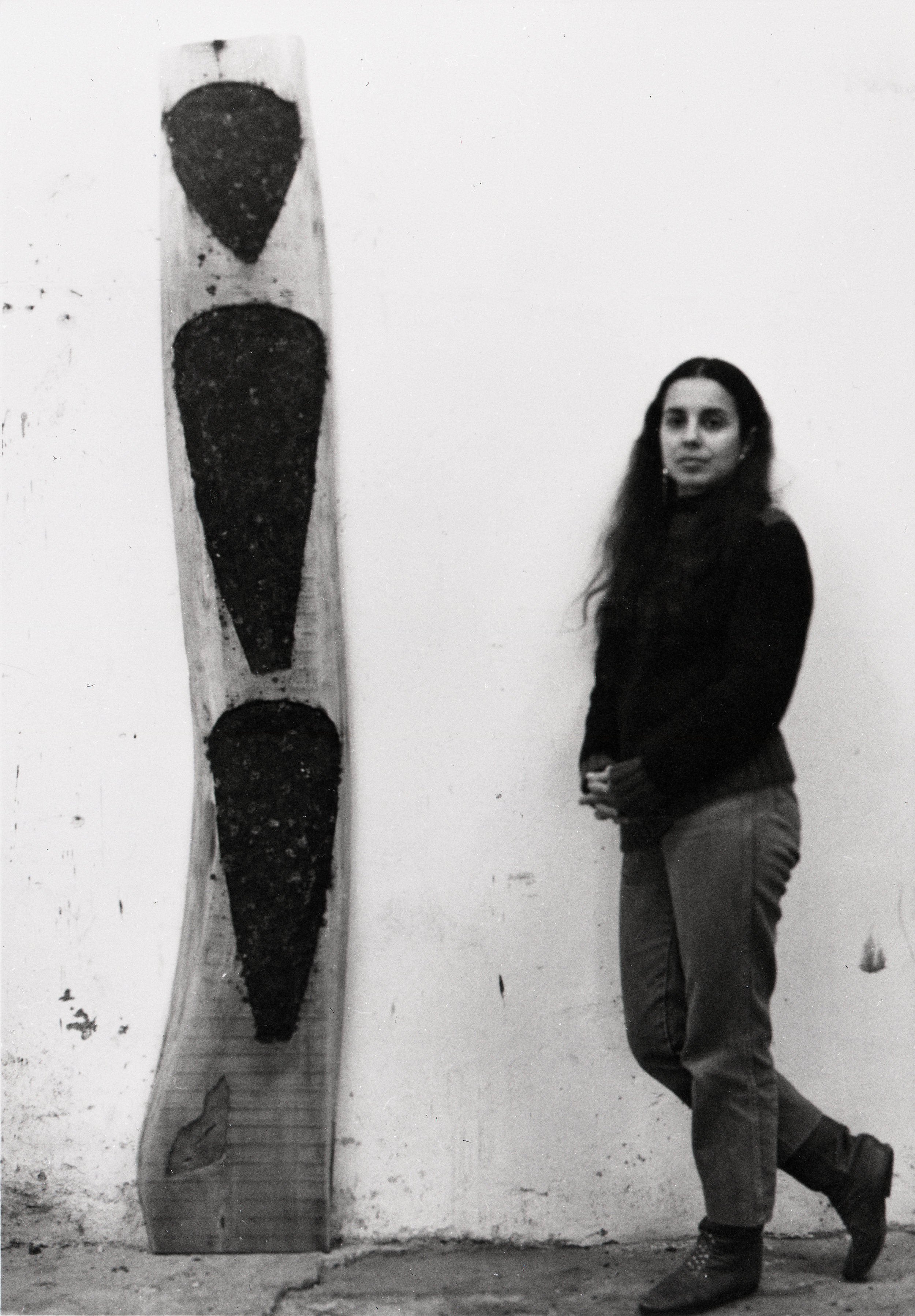 © The Estate of Ana Mendieta Collection, LLC, Ana Mendieta with an Untitled Sculpture 1985