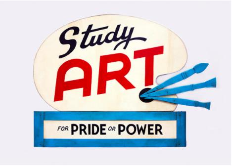 Study Art Sign  © John Waters