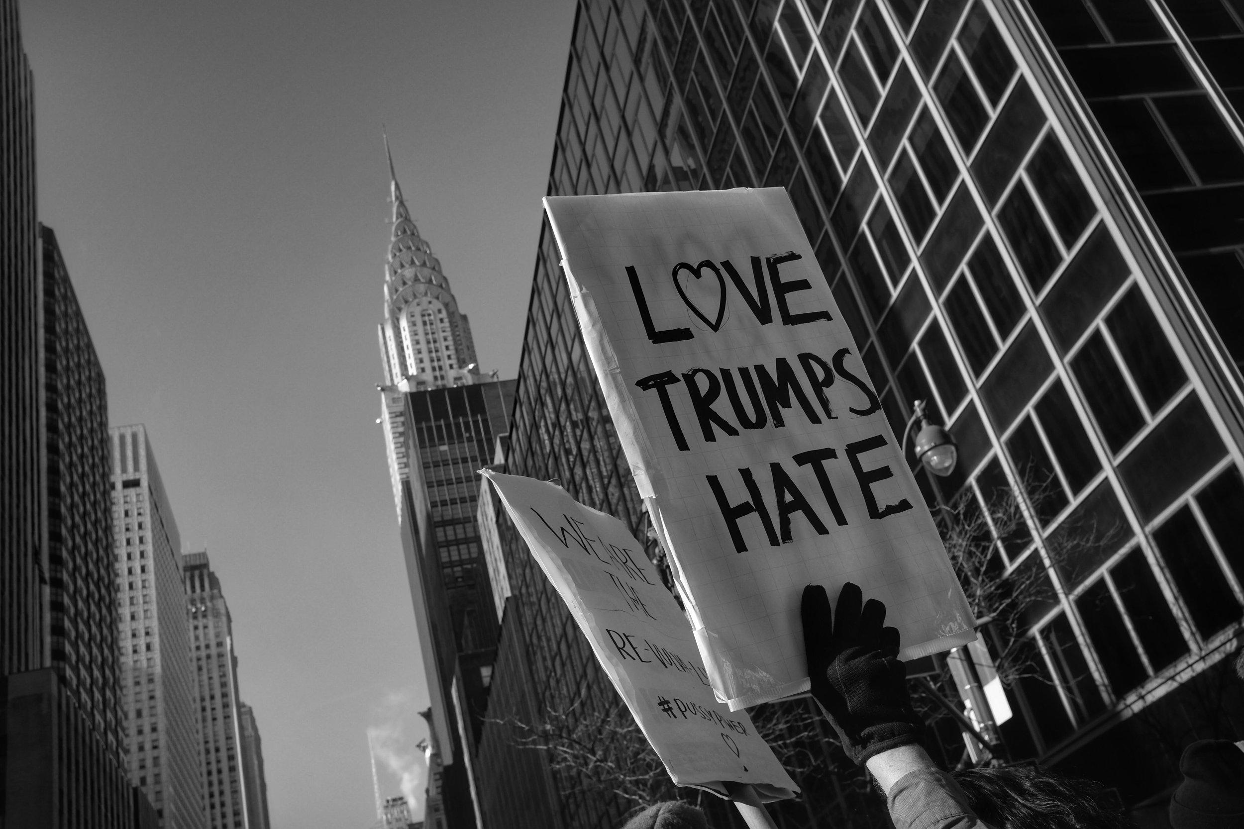 Women's March on New York City. Midtown Manhattan. NYC. 1.21.17 © Matthew Kraus.