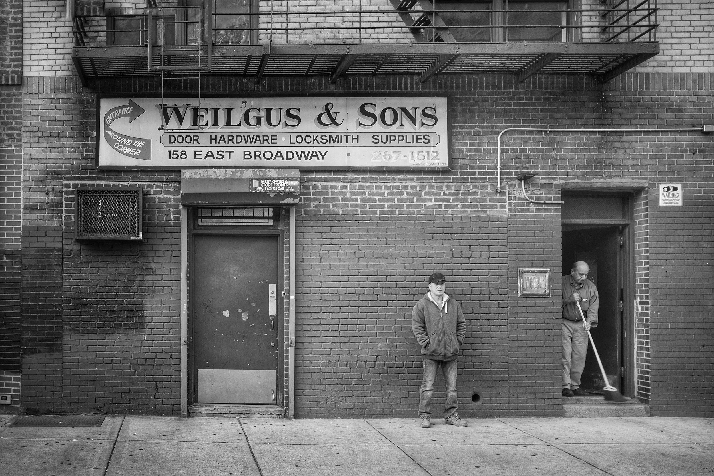 Weilgus & Sons. Canal Street. Lower East Side. New York City. 2016. © Matthew Kraus.