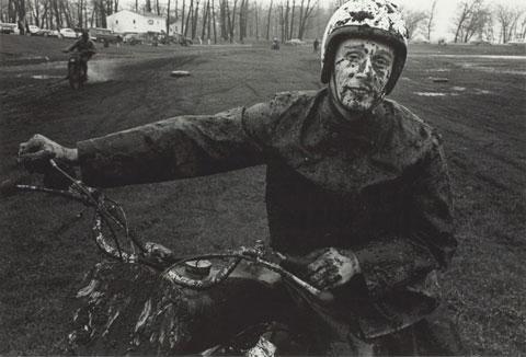 Danny Lyon. Racer, Schererville, Indiana , 1965. Gift of Danny Lyon. © Danny Lyon / Magnum Photos. Courtesy Gavin Brown's Enterprise.
