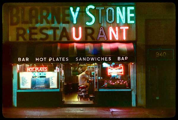 Blarney Stone, 8th Ave, 1980s, pigment print by William Hellermann