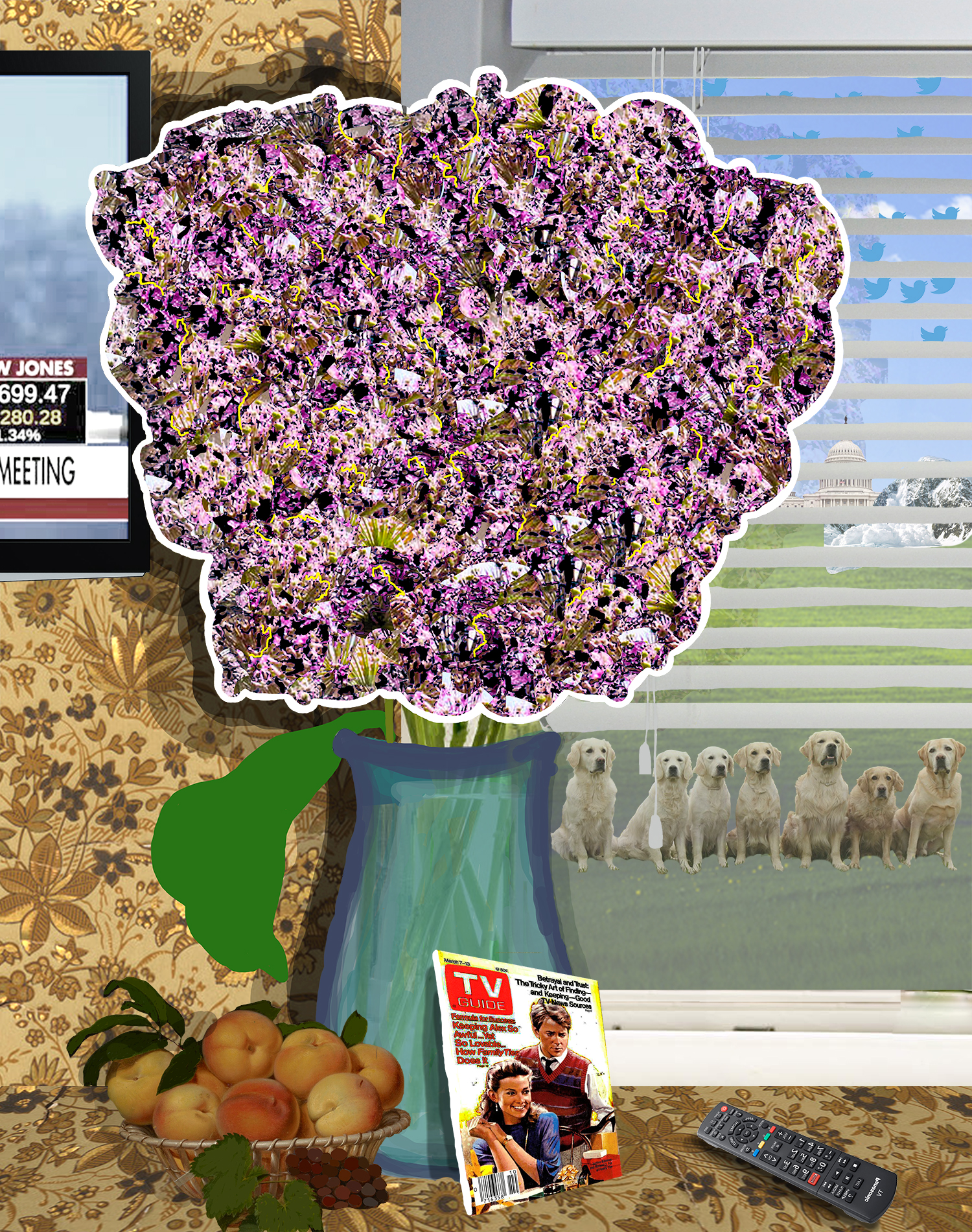 Flowers for donald #21 (channel surfing [with some good dogs])
