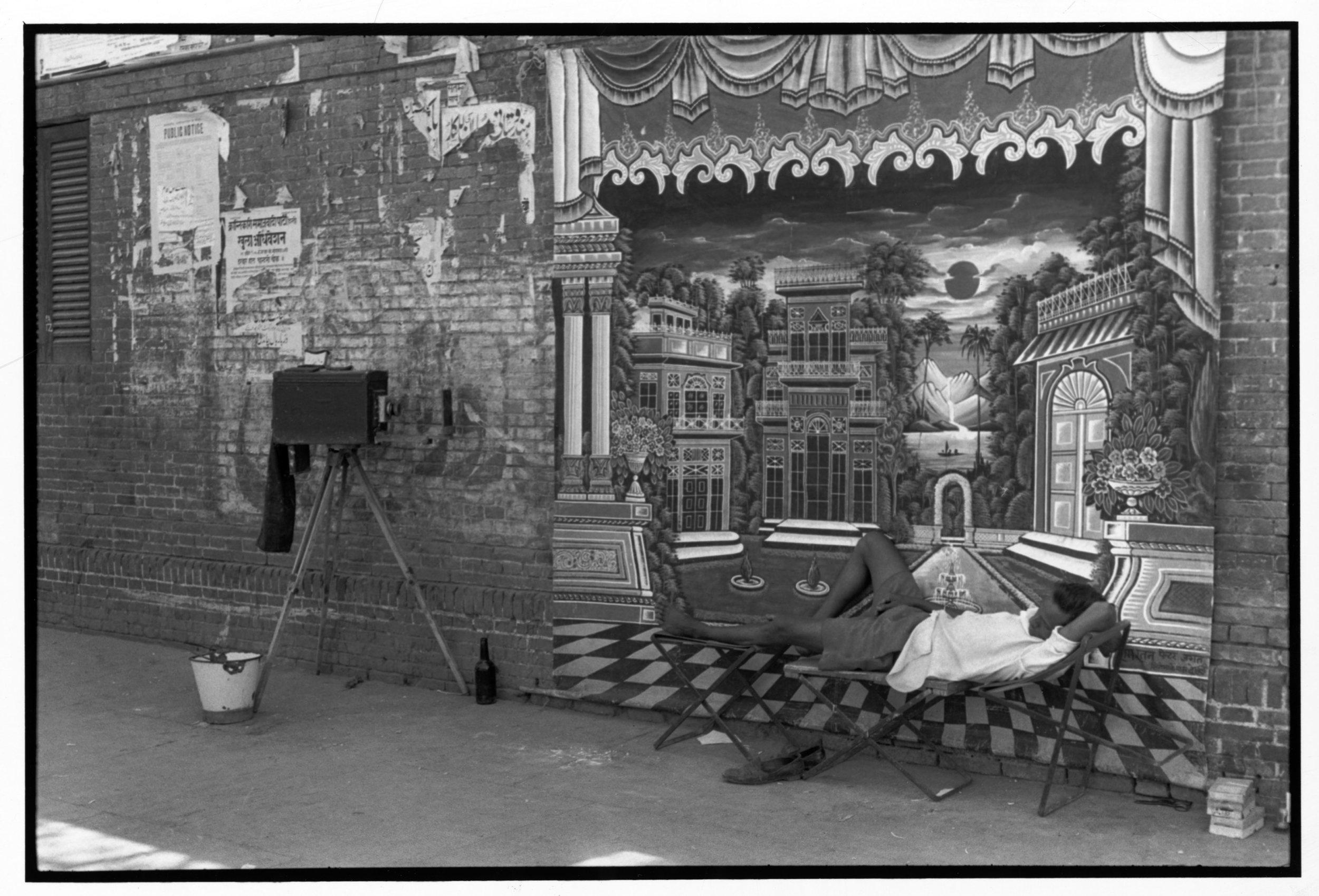 Street photographer in the old city Delhi, India; 1966 35 x 52.5 cm.©Henri Cartier-Bresson/Magnum Photos