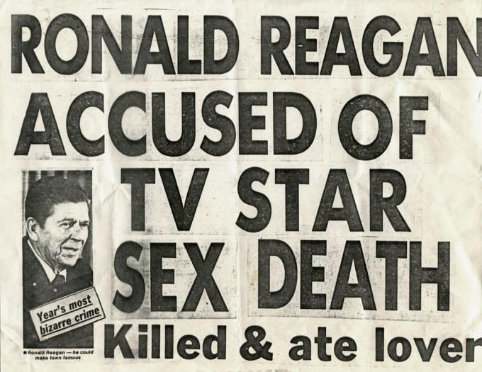 Ronald Reagan Accused of TV Star Sex Death