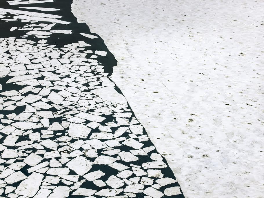 The Arctic Melt, Greenland Sea, Arctic Ocean, 4:48 PM, 79 degrees  © Diane Tuft, courtesy Marlborough Gallery