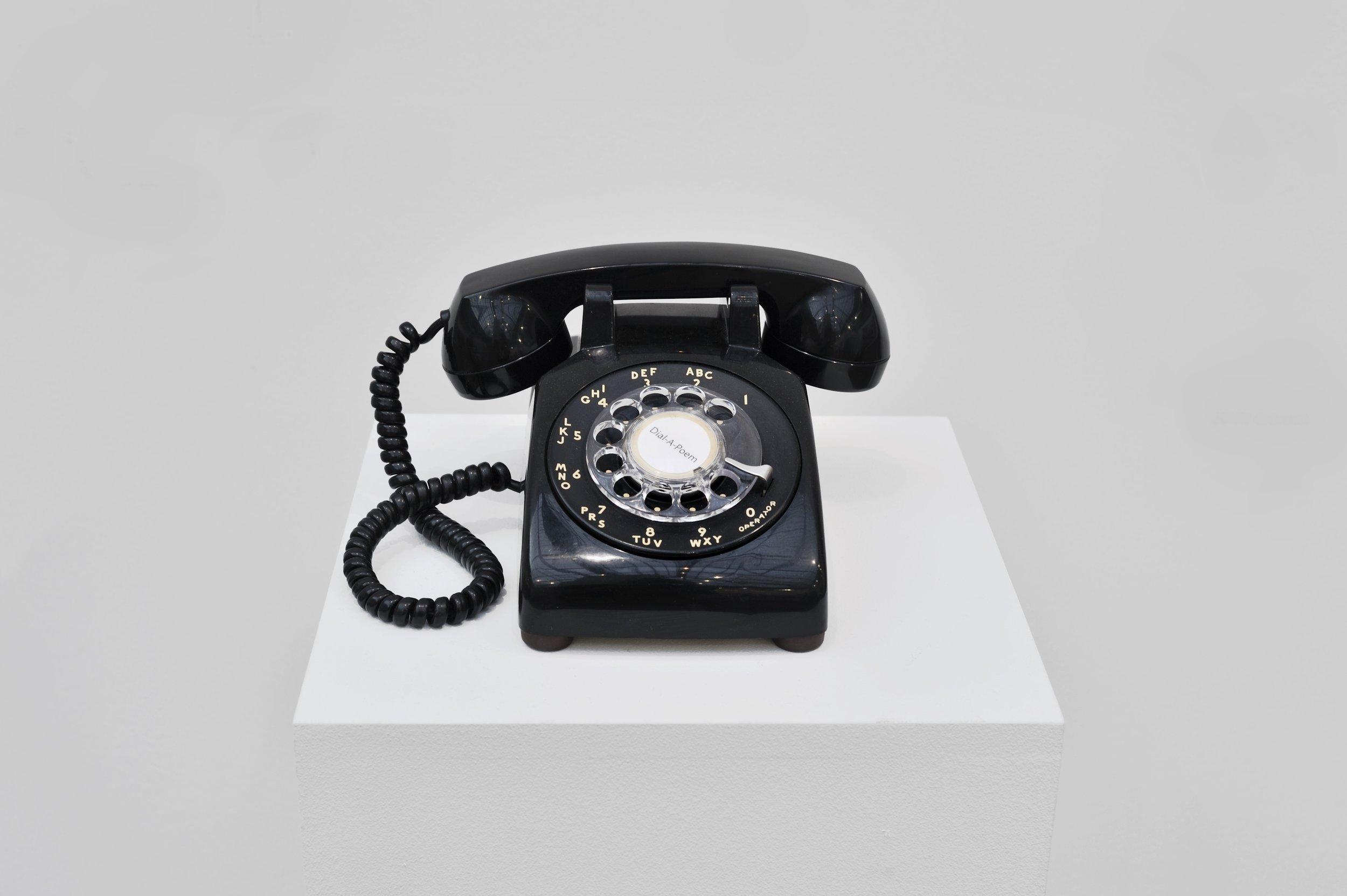 UGO RONDINONE: I LOVE JOHN GIORNO Installation view of Dial-A-Poem at Galerie Almine Rech, 2012 © John Giorno, Courtesy of John Giorno Collection