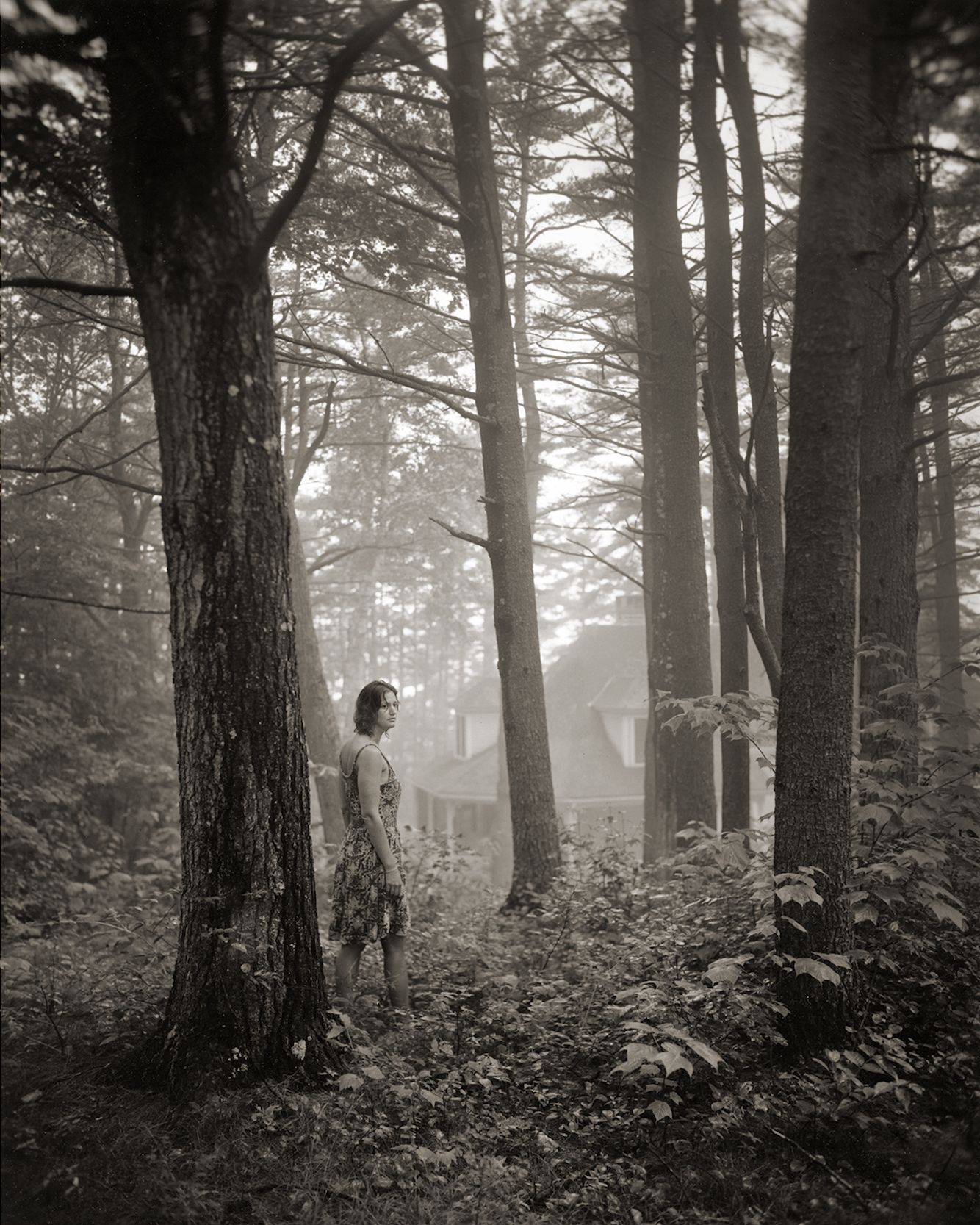 Sumner Wells Hatch. Untitled (Rebecca at Longfellow, 5:00 AM), 2013. From theseries Private Ground. Gelatin silver print. 20 x 16 in. (50.8 x 40.6 cm)