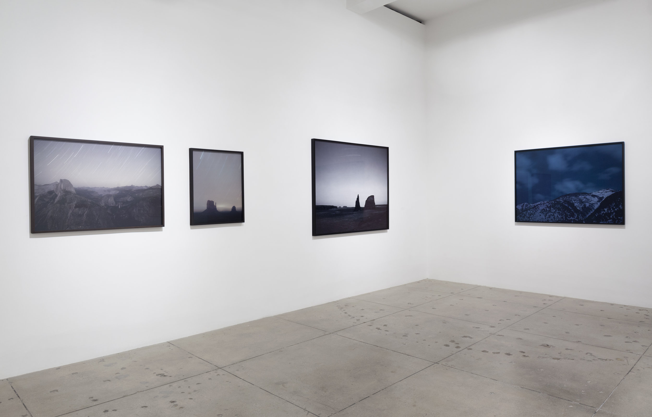 Sunset Decor, curated by Magali Arriola, lnstallation View, Marian Goodman Gallery, New York (From Left to Right) TREVOR PAGLEN Subsatellite Ferret-D Over the Eastern Sierra (Electronic Intelligence Satellite; USA 3), 2012