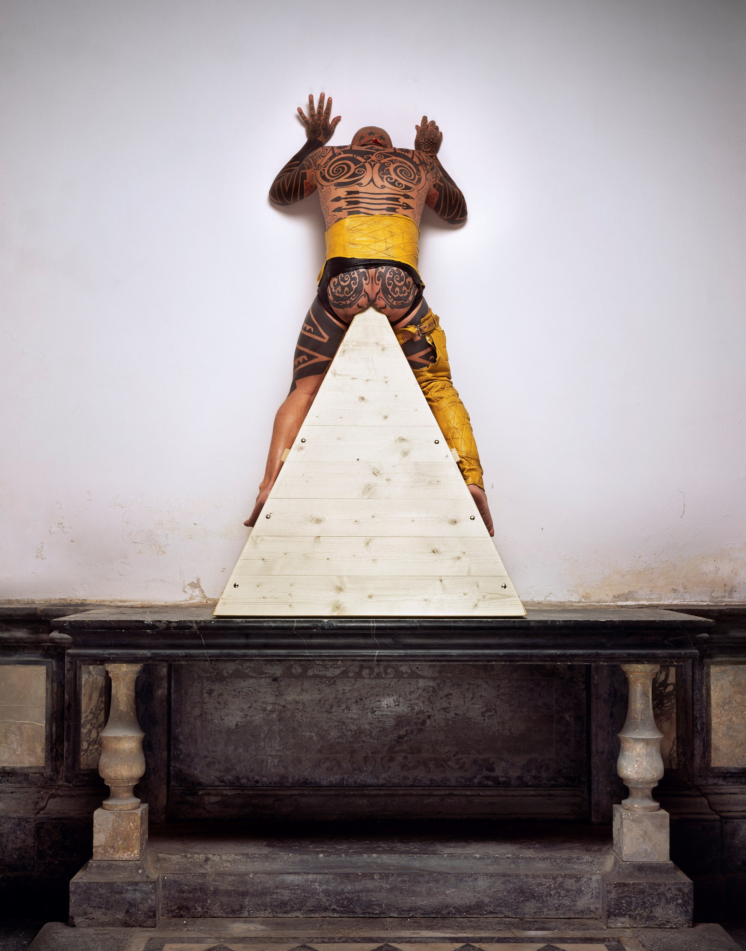 Ron Athey and Manuel Vason Collaboration #3, 2004 digital C-print 45 x 50 inches courtesy the artists and P.P.O.W, New York.