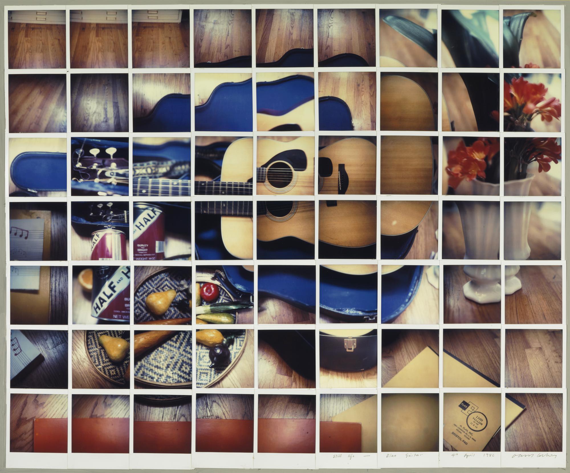 "David Hockney ""Still Life Blue Guitar 4th April 1982"" Composite polaroid 24 1/2 x 30"" © David Hockney. Photo Credit: Richard Schmidt"