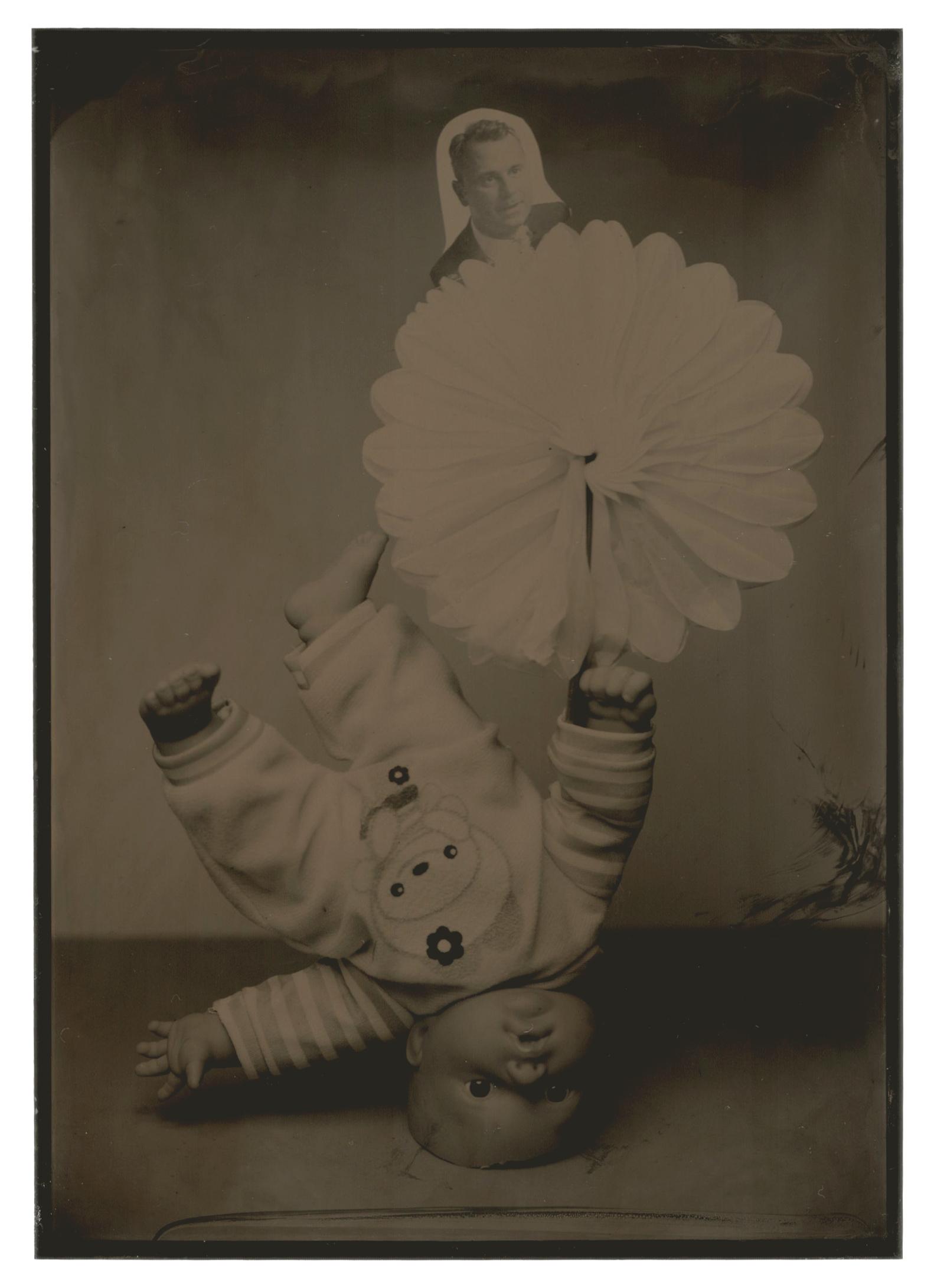 Body by Body, Zanni #11, 2016, tintype, 7 x 5 in. (17 3/4 x 12 3/4 cm.), unique, Château Shatto, Los Angeles