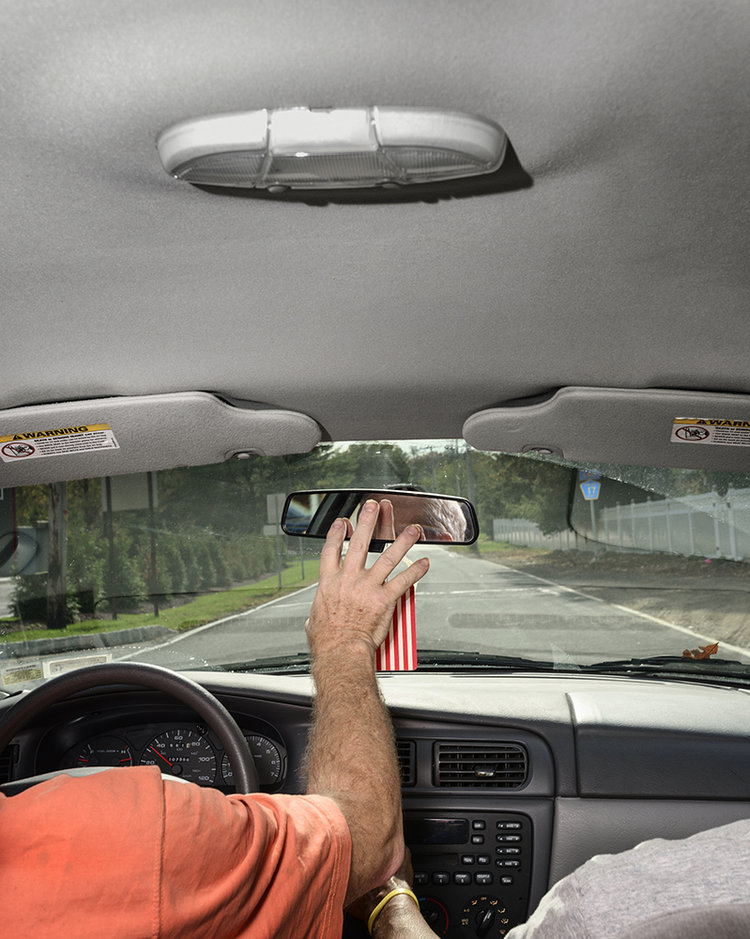 "Res. Backseat, 2015. Archival Pigment Print. 20"" x 25"". Edition of 5. +2 AP."