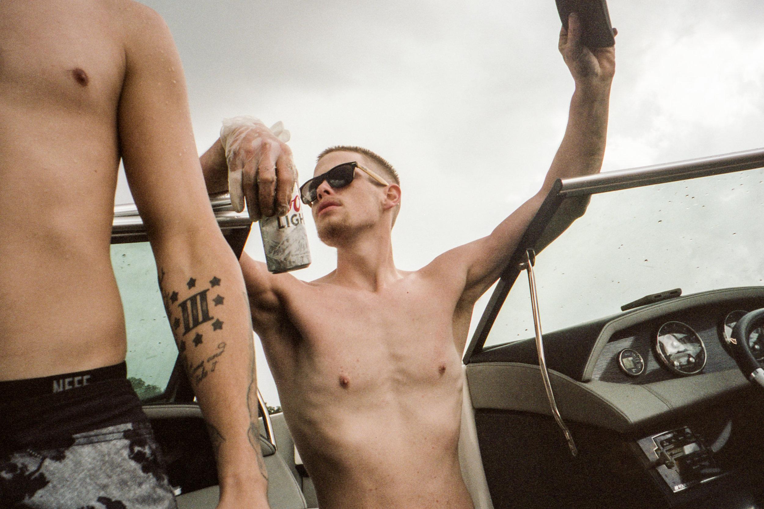'Adam on the Boat (Texas)'2017 © Lauren Withrow