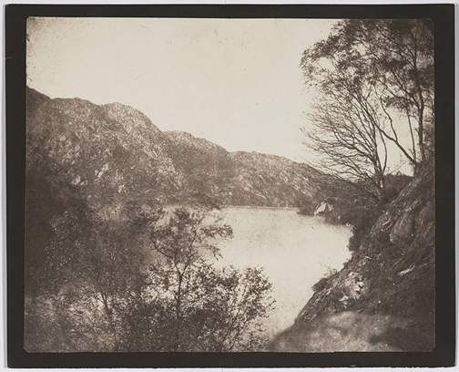 William Henry Fox Talbot (English, 1800-1877)  Loch Katrine,  1844. Courtesy of Hans P. Kraus, Jr. Gallery NY