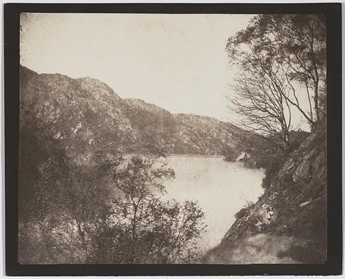 William Henry Fox Talbot (English, 1800-1877) Loch Katrine,  1844. Courtesy of Hans P. Kraus, Jr. Gallery NY