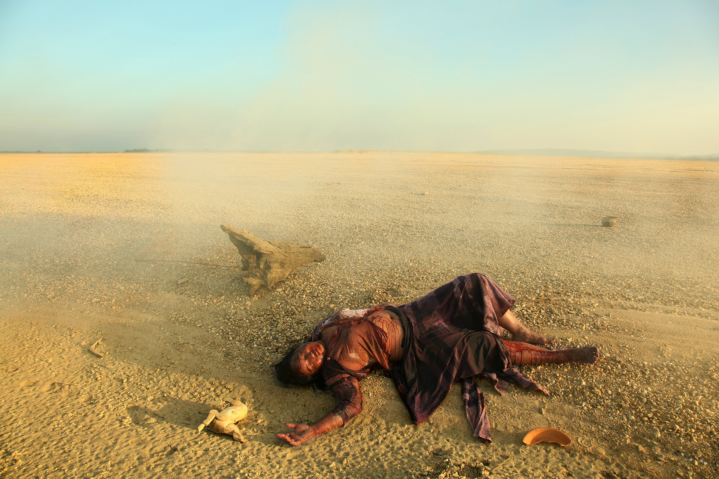 Nge Lay, Observing of Self Being Dead [2] , 2011. Color photograph. Courtesy of the artist.