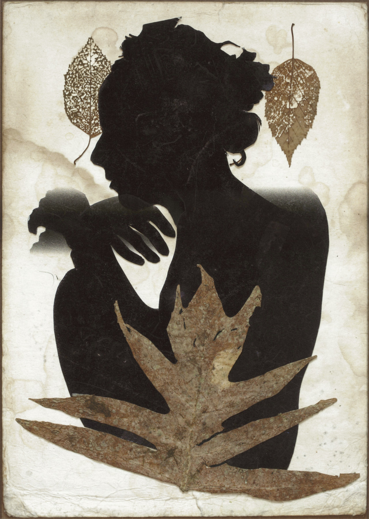 Edith in Panama with Three Leaves , 2015, digital inkjet print. © Emmet and Edith Gowin; courtesy Pace/MacGill Gallery, New York