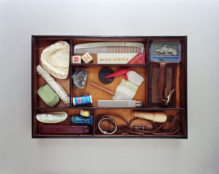 Office drawer, West Virginia. A moon rock was discovered in the home of retired dentist, Robert Conner.  Annabel Elgar, 2014