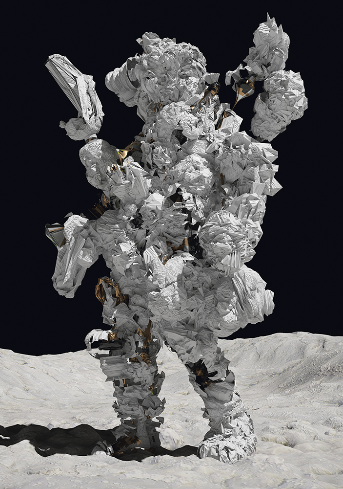 'Astronaut' , 2015, raytraced image- c-print Courtesy of Postmasters Gallery