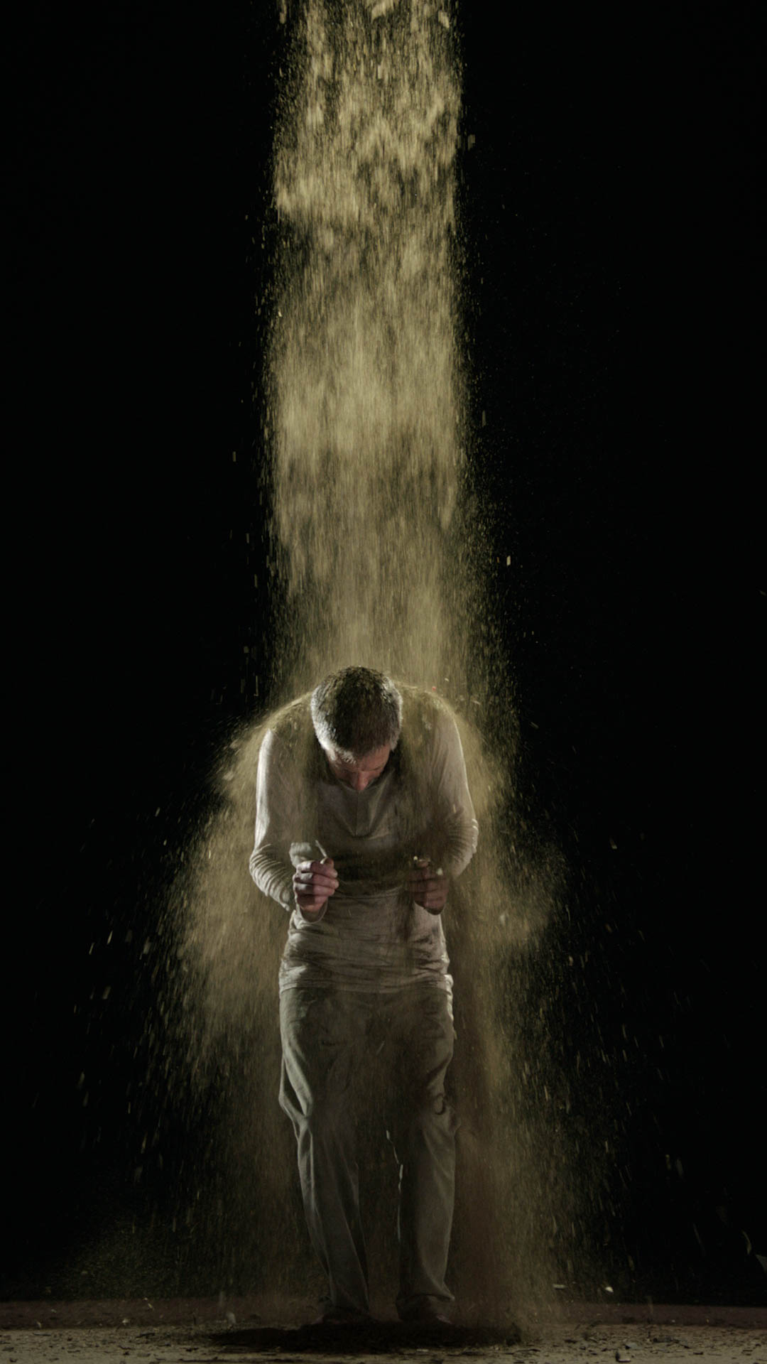 Bill Viola, Earth Martyr , 2014, Color High-Definition video on flat panel display, 42 3/8 x 24 1/2 x 2 5/8 in. (107.6 x 62.1 x 6.8 cm), 7:10 minutes, Executive producer: Kira Perov, Performer: Norman Scott