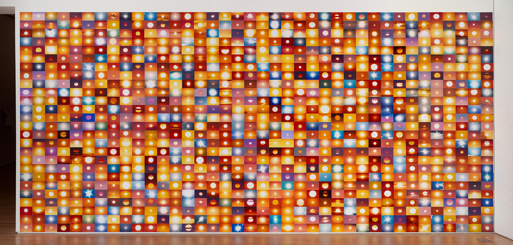 5,377,183 Suns from Sunsets from Flickr (Partial) 04/28/09,  2009 Installation view at San Francisco Museum of Modern Art, 2009 Courtesy the Artist and SFMOMA