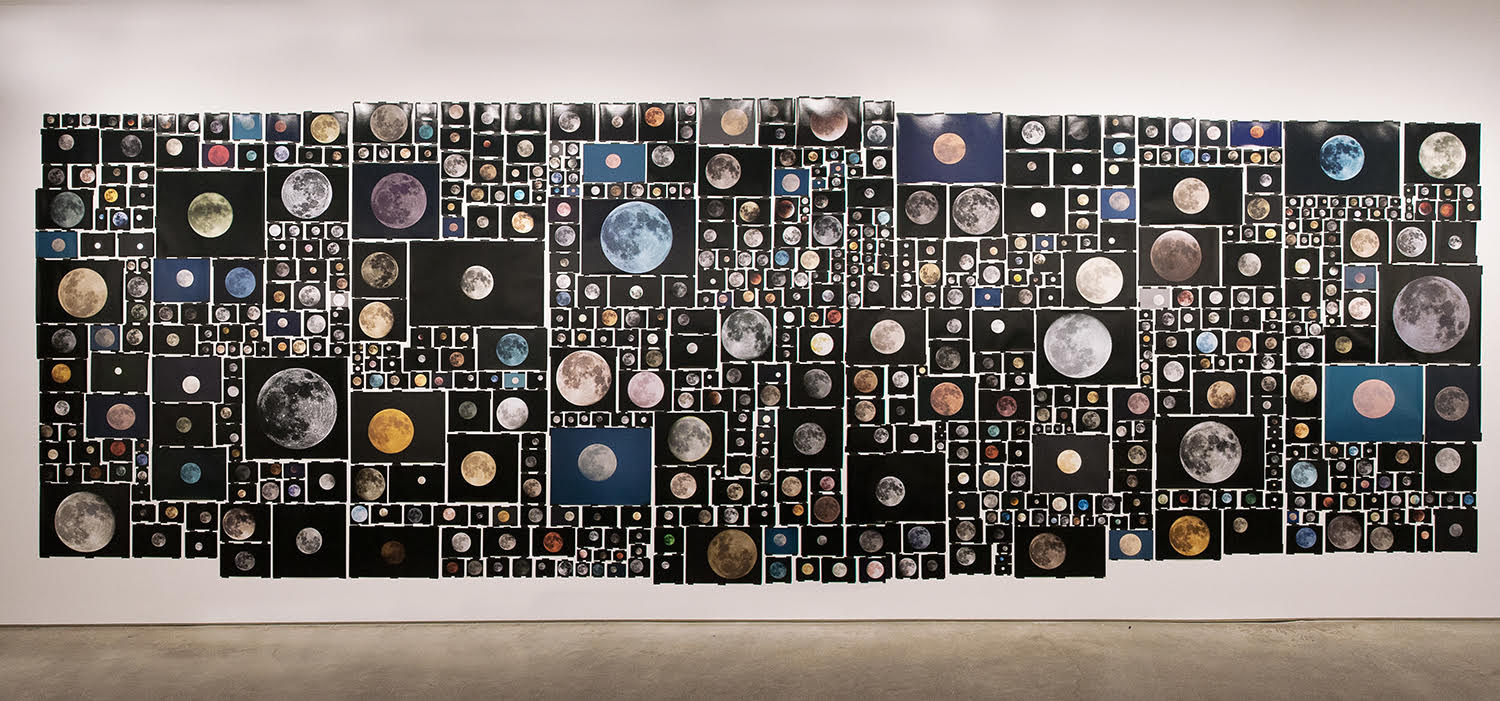 Everyone's Photos Any License (654 of 1,146,034 Full Moons on Flickr, November 2015),  2015 Installation view at Bruce Silverstein Gallery, NY, 2016 Courtesy the Artist and Bruce Silverstein Gallery, NY