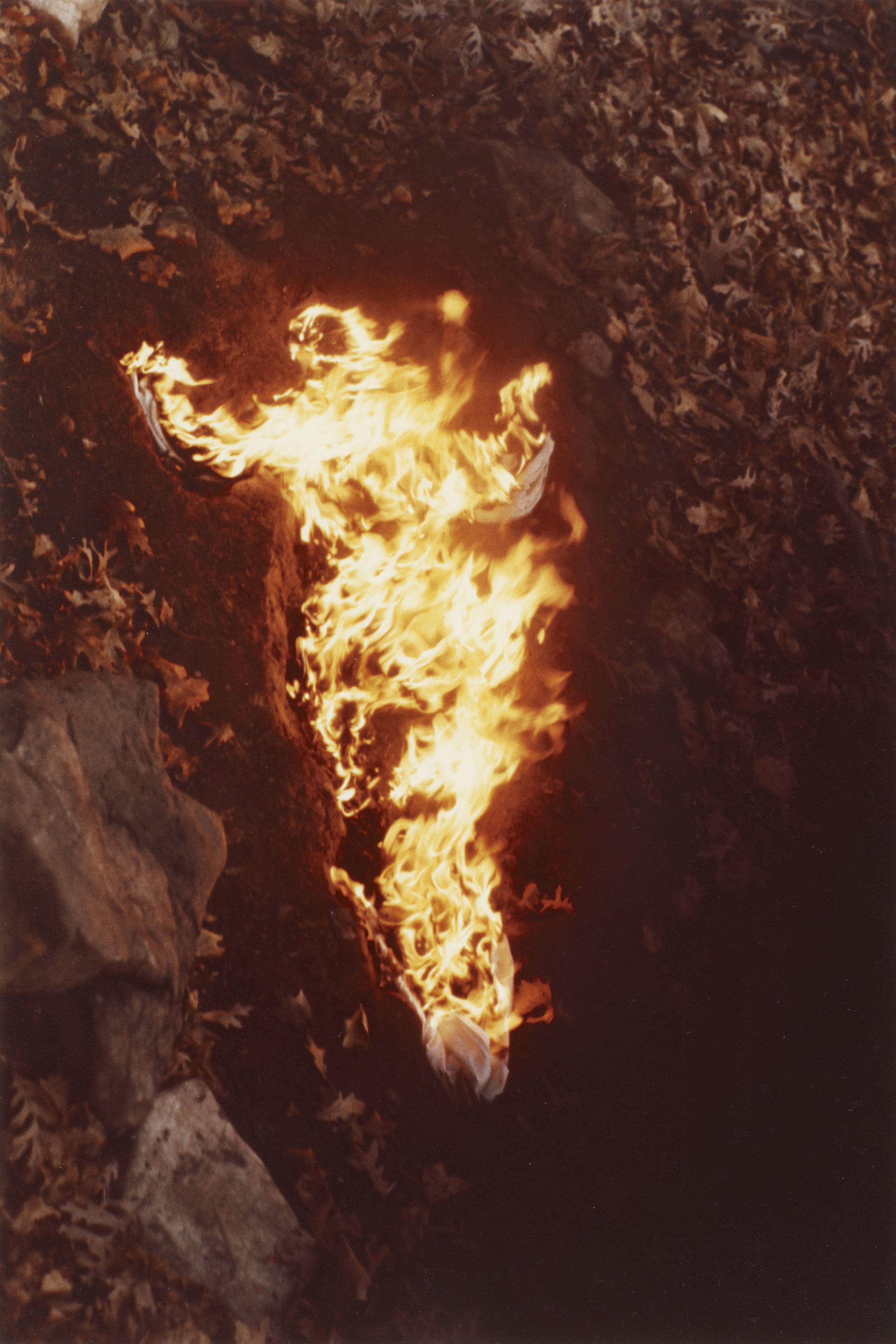 Alma, Silueta en Fuego , 1975 Photograph © The Estate of Ana Mendieta Collection, LLC,Courtesy Galerie Lelong, New York