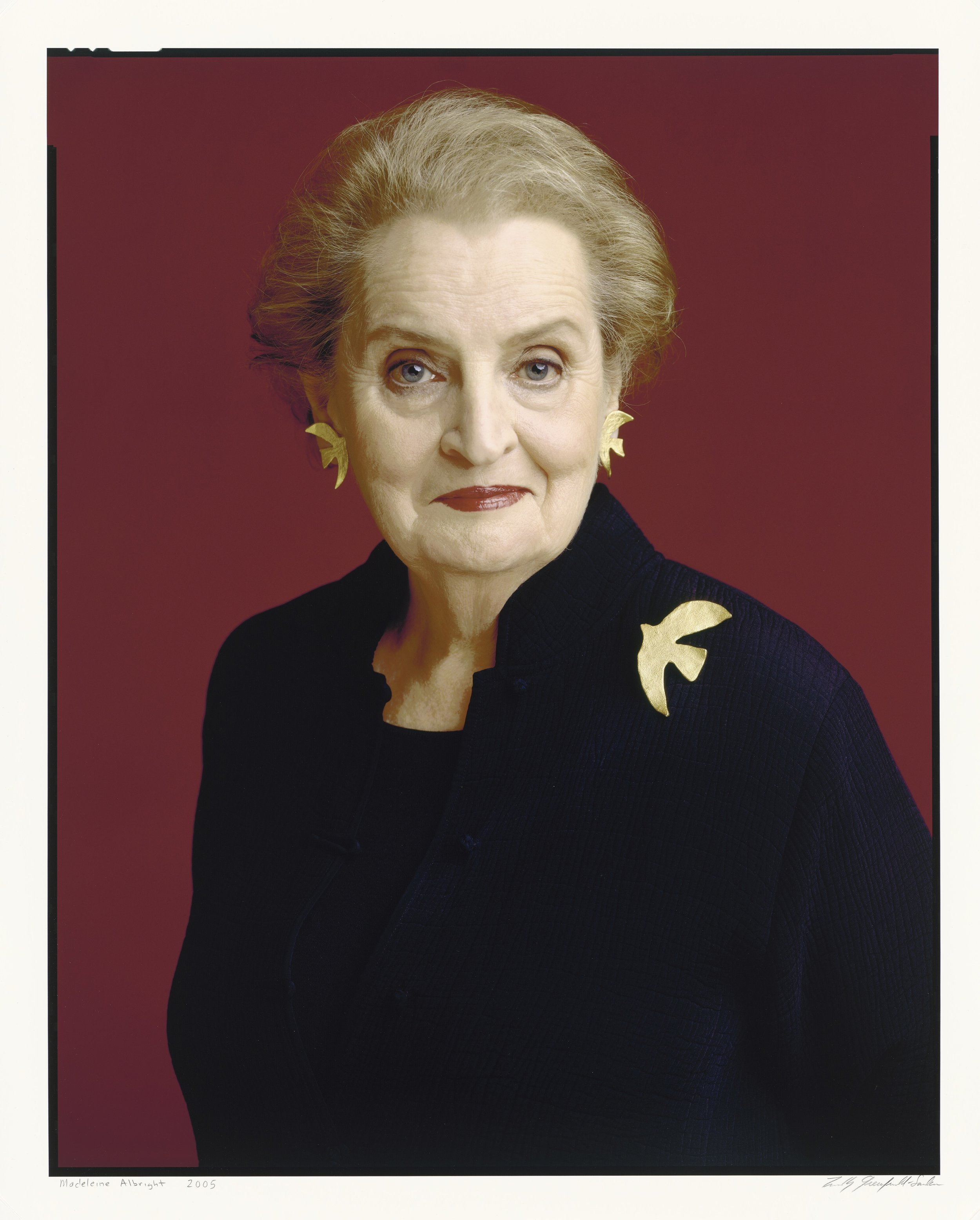 Madeline Albright     by Timothy Greenfield-Sanders    Inkjet print    2005 (printed 2016)    National Portrait Gallery, Smithsonian Institution; acquired through the generosity of Eugene Eidenberg   © 2005, Timothy Greenfield-Sanders