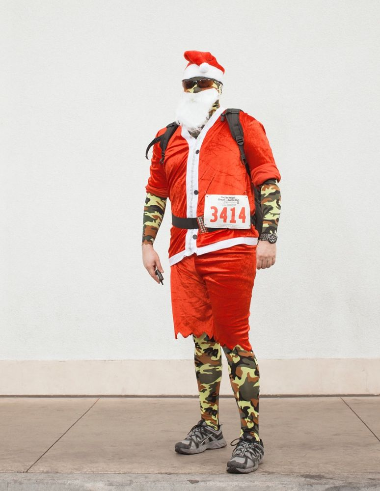 Camo-Claus.  Las Vegas, NV . 2013. Town Square Mall © Jesse Rieser
