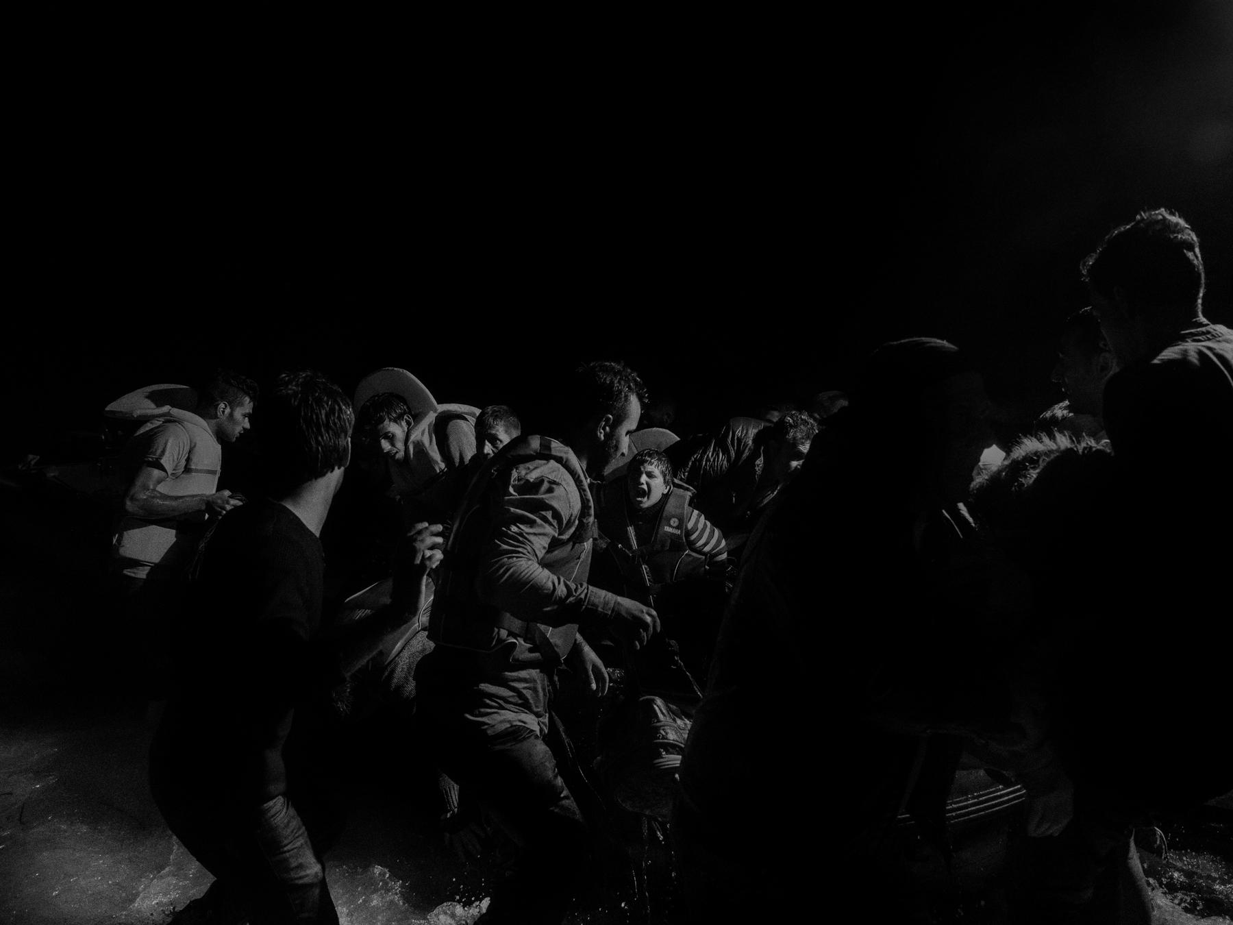 Alex Majoli, Scene #20508, Lesbos, Greece 1/5, 2015.