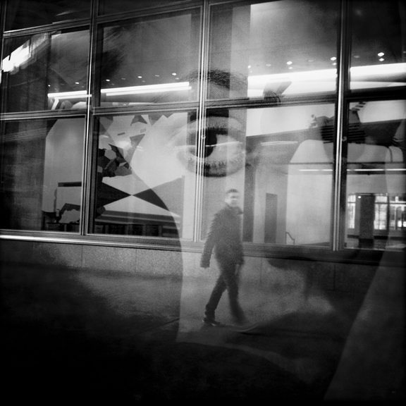 Face in Window, Battery Park City, New York, NY, USA. February 20, 2012, 3:24:41pm  Latitude: 40°42'54''N, Longitude: 74°0'50'4''W  © Robert Herman