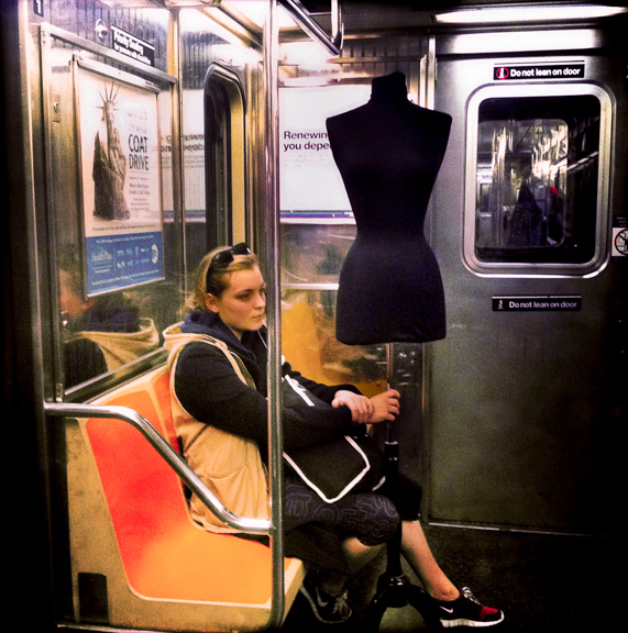 Fashion Statement, New York, NY, USA. January 9, 2012, 3:02:45pm  Latitude: 40°44'54''N, Longitude: 73°59'38''W  © Robert Herman