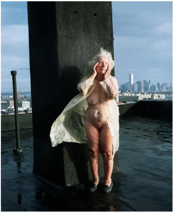 On the roof, New York, 1993 © Nina Korhonen