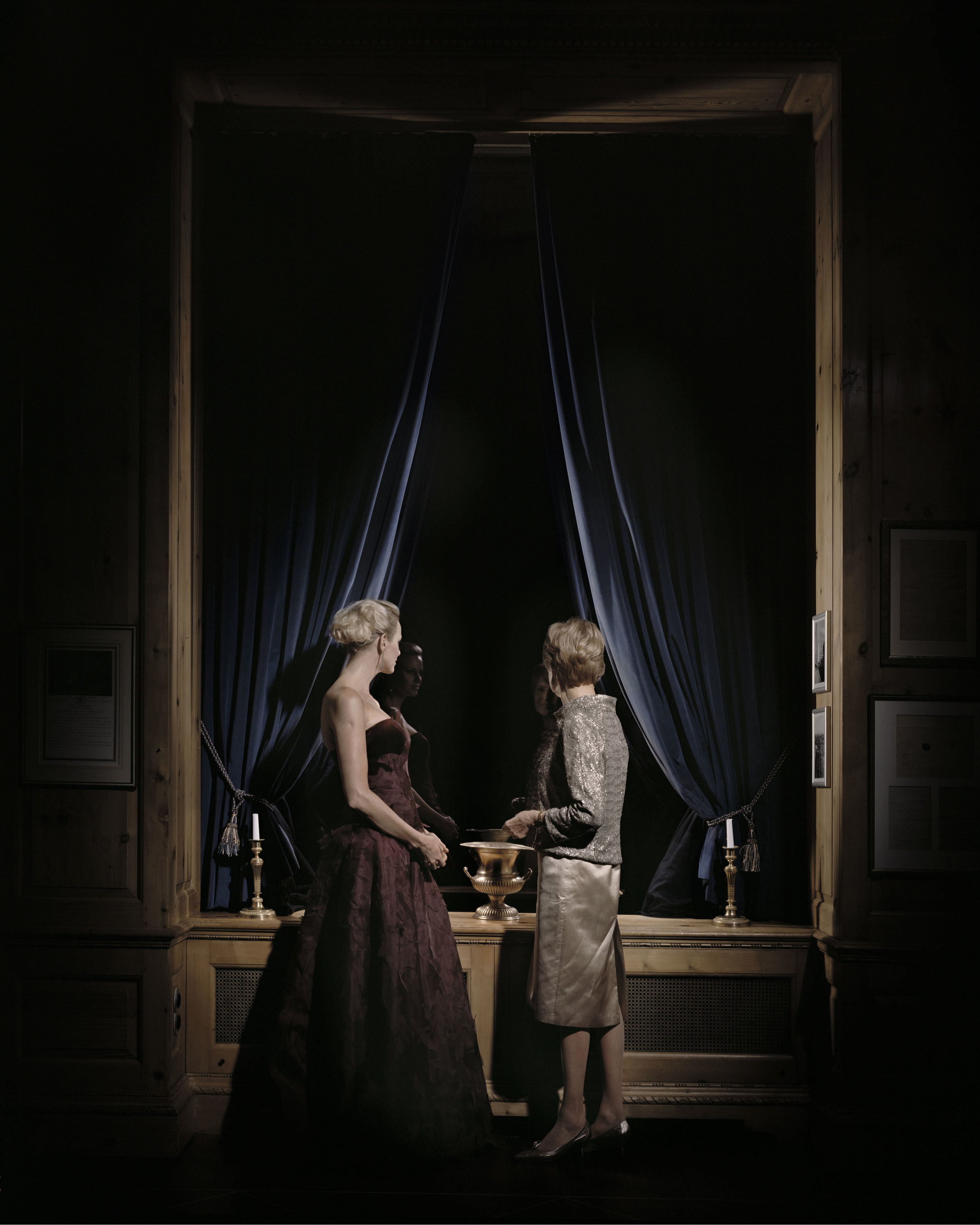 Andreas Mühe, Friede II (Fürstin Charlene von Monaco und Friede Springer), 2011, Series: Friede Springer .