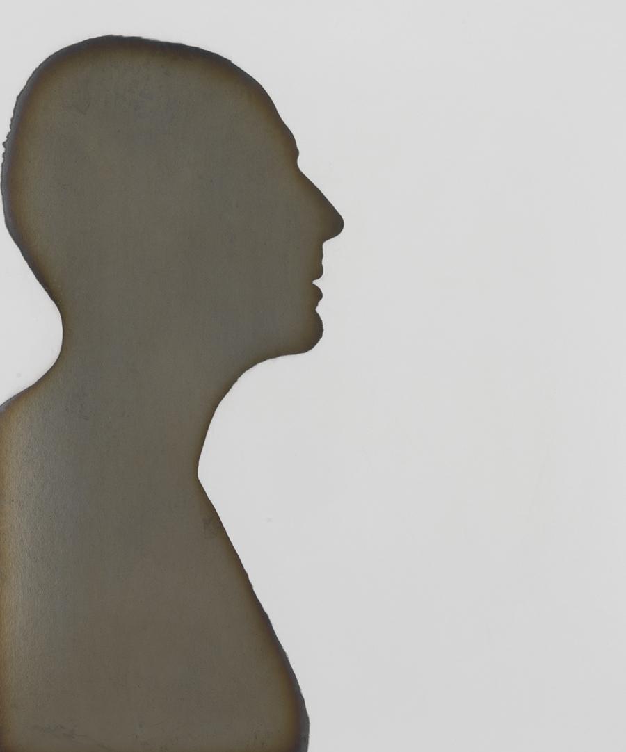 Adam Fuss (American, born in England, b. 1961) Untitled silhouette , 1997.Courtesy of Hans P. Kraus Jr. Fine Photographs.