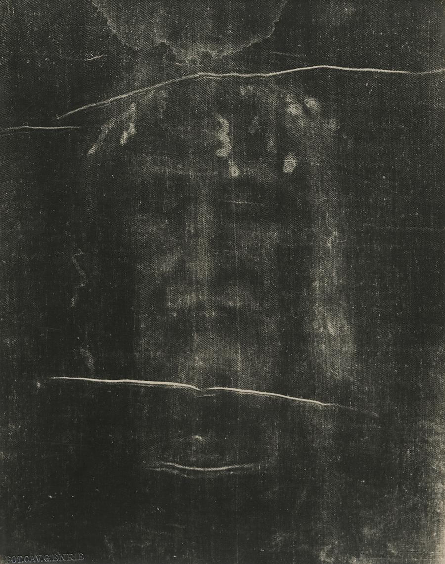 Giuseppe Enrie (Italian 1886-1961) Detail of the Shroud of Turin , 1931. Courtesy of Hans P. Kraus Jr. Fine Photographs.