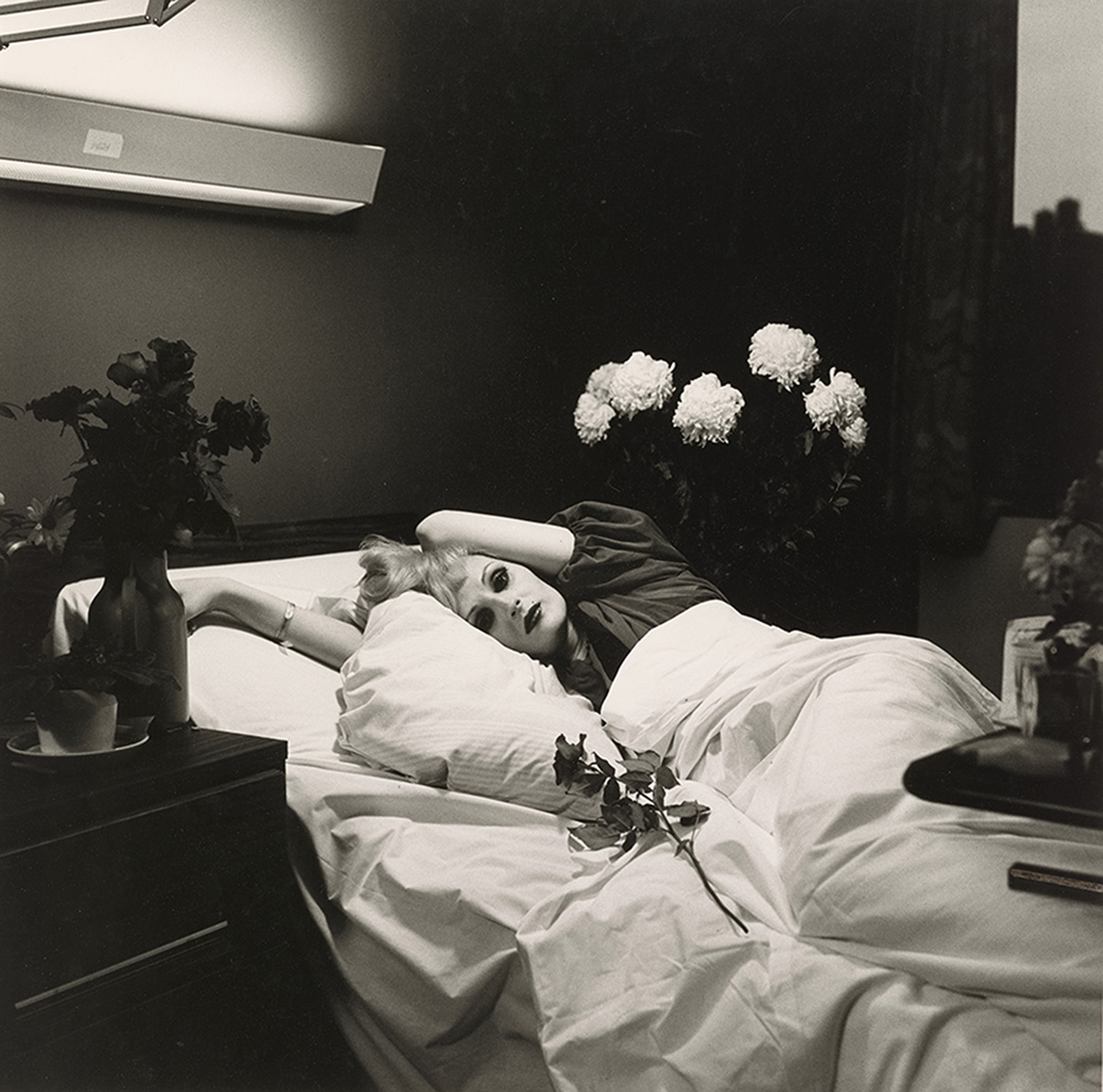 Candy Darling on her Deathbed, 1973, gelatin silver print, collection of Ronay and Richard Menschel. © Peter Hujar Archive, LLC, courtesy Pace/MacGill Gallery, New York and Fraenkel Gallery, San Francisco.