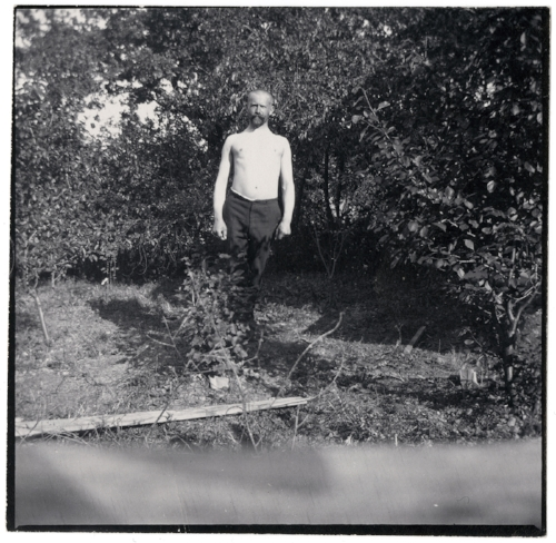 Edvard Munch Ludvig Ravensberg in Åsgårdstrand Original: Collodion contact print Courtesy of Munch Museum