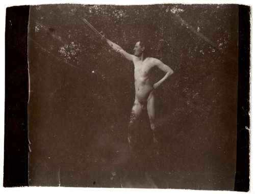 Edvard Munch Edvard Munch Posing Nude in Åsgårdstrand, 1903 Original: Collodion contact print Courtesy of Munch Museum