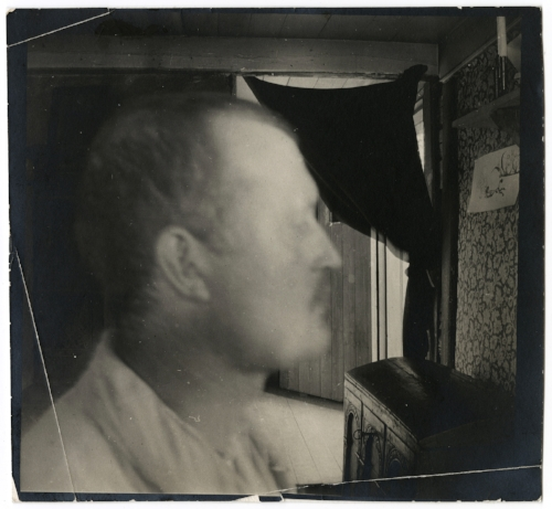 Edvard Munch Self-Portrait in a Hat in Profile Facing Right, 1930 Original: Gelatin silver contact print Courtesy of Munch Museum