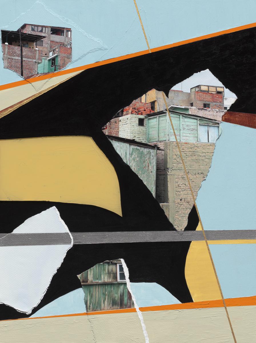 Beth Davila Waldman_Intersections No. 8, 2017, Plexiglas, Archival Pigment, Rag Paper & Acrylic & Spray Paint on Wood Panel, 24 x 18.JPG
