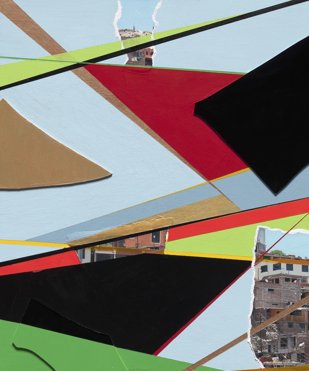 Beth Davila Waldman_Intersections No. 11, 2017, Plexiglas, Archival Pigment, Rag Paper & Acrylic & Spray Paint on Wood Panel, 24 x 18.JPG