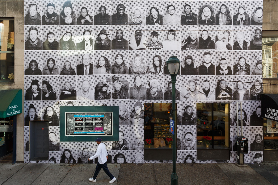 An INSIDE OUT/DREAMERS mural in Philadelphia, 2017   © JR