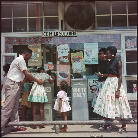 At Segregated Drinking Fountain, Mobile, Alabama, 1956  Images Courtesy of Jack Shaiman Gallery