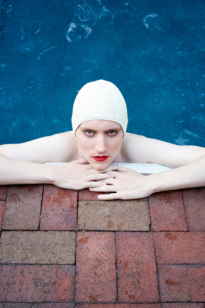 "Image: © Lissa Rivera, ""Poolside, Family Home,"" 2015, Archival pigment print, Courtesy of ClampArt, New York City"