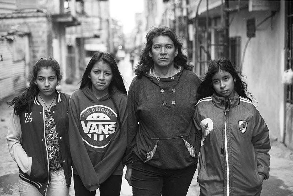 Cinthia and her three daughters, Amira Ayelen, Nahir Daiana, and Zamira Nahomi, in Villa 31, Buenos Aires Copyright © 2018 by Kike Arnal. These images originally appeared in Revealing Selves:Transgender Portraits from Argentina, published by The New Press. Reprinted here with permission.