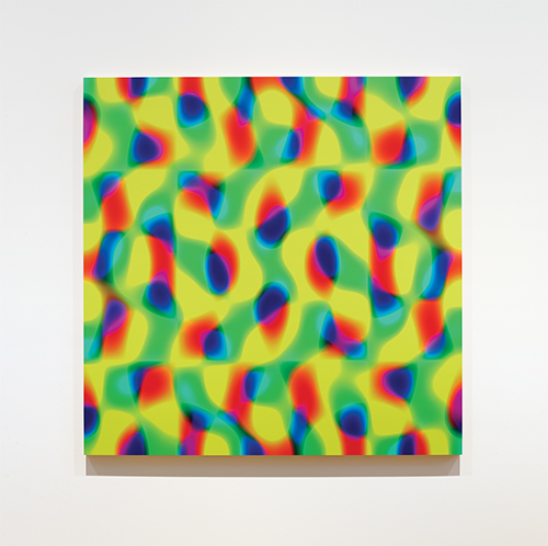 Stan Douglas A66A, 2017 Lacquered UV ink on gessoed panel 59 1/8 x 59 1/8 inches 150 x 150 cm © Stan Douglas.Courtesy the artist and David Zwirner, New York