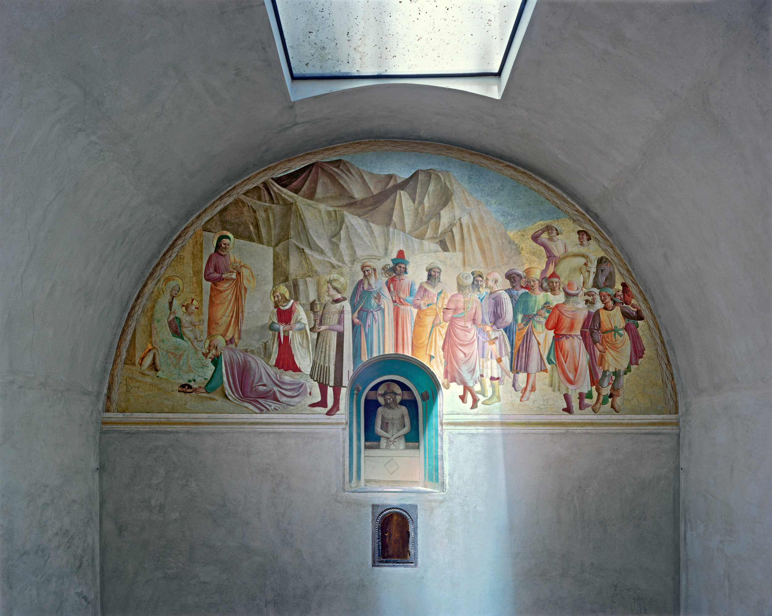 Crucifixion with the Virgin and Saints by Fra Angelico #3, San Marco Convent, Florence, Italy, 2010 © Robert Polidori, Courtesy of Paul Kasmin Gallery